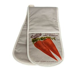 Double Oven Glove In 'Carrot'