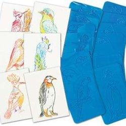 Rubbing Plates Around The World Birds 4.5 X 6.5 16/Pkg By Roylco Inc.