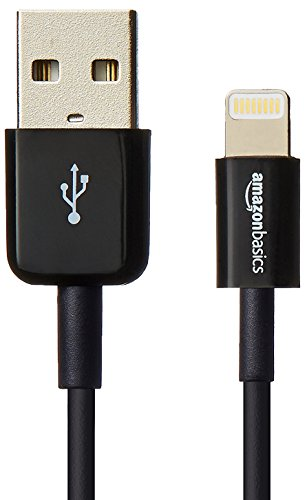 Amazonベーシック ハイクオリティーライトニングUSB充電ケーブル 約90cm 小型ヘッド設計 Apple認証 (Made for iPhone取得) iPhone5/5c/5s/6/6PLUS/6s/6sPLUS/iPad Air/iPad mini/iPod用 - ブラック
