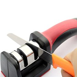 1 Piece Of Two Stages (Diamond & Ceramic) Knife Scissors Sharpener Grinder Secure Suction Pad Kitchen Sharpening Tool