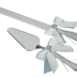 Jamie Lynn Wedding Accessories Delicate Allure Cake Knife And Server Set, White