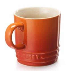 Le Creuset Stoneware Petite Espresso Mug, 3.5-Ounce, Flame
