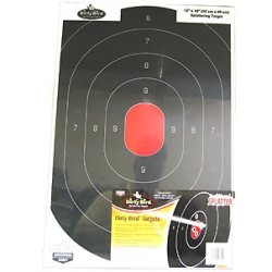 New Birchwood Casey Shoot-N-C Targets Silhouette High Visibility Resettable Indoor/Outdoor Excellent