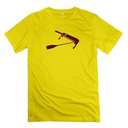 Stabe Men Swiss Paddle Knife T-Shirt 100% Cotton Humor Yellow