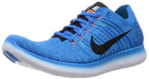 Nike Herren Free RN Flyknit Laufschuhe, Azul (Photo Blue / Blk-Gmm Bl-Ttl Orng), 44 EU