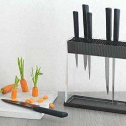 Kuhn Rikon Colori+ Black 5 Piece Knife Block Set