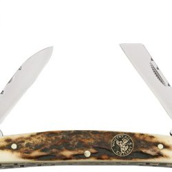 Frost Cutlery & Knives Wt515 Whitetail Congress Pocket Knife With Stag Handles