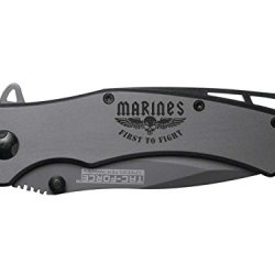 Usmc Marines First To Fight Wings Engraved Tac-Force Tf-820Gy Speedster Model Folding Pocket Knife By Ndz Performance