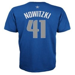 Dallas Mavericks Dirk Nowitzki Adidas Nba Player T Shirt Xx-Large / Navy Blue