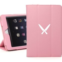 Apple Ipad 2 3 4 Pink Leather Magnetic Smart Case Cover Stand Chef Knives