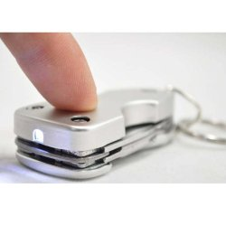 Portable Multi Functional Knife Tool With Led Light Key Chain