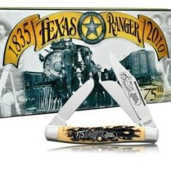 Schrade 885Trt Uncle Henry Rancher Pocket Knife With Texas Rangers 175Th Anniversary Collector'S Tin