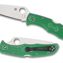 Spyderco Endura4 Lightweight Frn Flat Ground Plainedge Knife (Green)