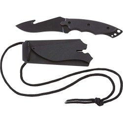 Fixed Blade Hunting Survival Knife With Leymar Handles & Gut Hook - Skfb601