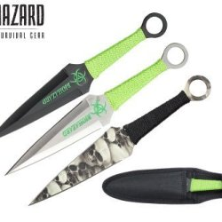 Biohazard 9' 3 Pcs Set Zombie Throwing Knife