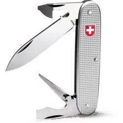 Victorinox Swiss Army Soldier Pocket Knife (Silver Alox)