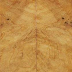 """Buckeye Burl Stabilized Clear (2 Pc) Knife/Razor Scale 1/4""""X1 1/2""""X6"""" Lr2"""