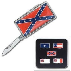 Flags Of The Confederacy Collectible Mini Pocket Knives