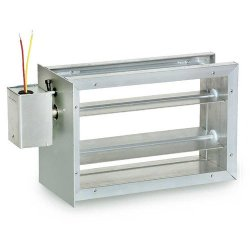 """Honeywell Zd12X8 24 Volt Parallel Blade Zone Damper For Warm Air Or Ac Systems 12"""" Wide 8"""" High"""