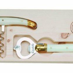 Jean Dubost Corkscrew Wine Opener Set, Ivory