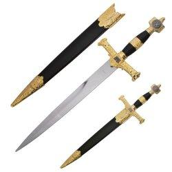 King Solomon Medieval Historic Dagger - Black - Religious Historic Collectors Piece