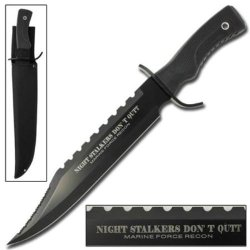 17-1/2 In Night Stalker Bowie Knife Hk0498Bm - Tactical / Survival Knives
