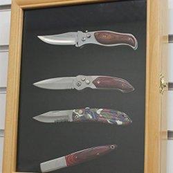 Knife Display Case Shadow Box, With Glass Door, Wall Mountable, Oak Finish (Kc02-Oa)