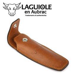 Laguiole En Aubrac Eca Brown Leather Belt Pocket For 11/12 Cm Knives - Knife Case - Quality Sheath