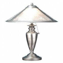 23 Inch H Van Erp Silver Mica Table Lamp Table Lamps