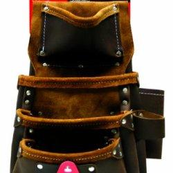 Task Tools T77303 Leather Professional Drywaller/Siding Installer'S Tool Bag, 8-Pocket