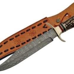 Szco Supplies Damascus Bowie Hunting Knife