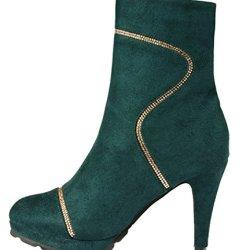 Index Dull Polish High-Heels Fashion Shoes For Women(6 B(M) Us, Green)
