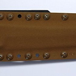 "Custom Coyote Brown Color .08"" Kydex Sheath For Cold Steel Knives Master Tanto Knife"