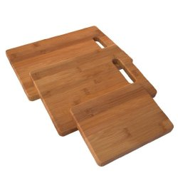 Enduring Bamboo 3 Piece Cutting Board Set - Large Small And In Between You'Ll Have The 3 Best Wooden Chopping Boards On Your Kitchen Counter - Breads Meats Vegetables - Hardy Bamboo Care Instructions & Lifetime Guarantee