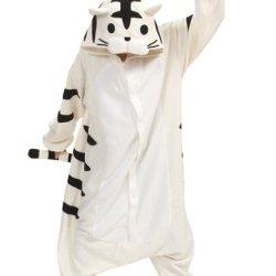 Fashionfits Unisex Animal Cartoon Tiger Cosplay Adult Sleepwear Jumpsuit Pyjamas L