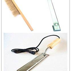 Electric Honey Uncapping Hot Knife Beekeeping&Bee Brush& J Hook Hive Tool Set