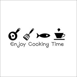 Top-Me Diy Pvc Enjoy Cooking Time Kitchen Living Room Beautify Decoration Wall Sticker - Tm8300
