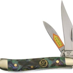 Frost Cutlery & Knives 107Iab Little Peanut Pocket Knife With Imitation Abalone Handles
