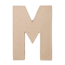 """Ready To Decorate Paper Mache Capital Letter """"M"""" For Crafting, Creating And Projects"""