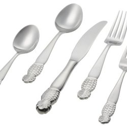 Ginkgo International Pineapple 20-Piece Stainless Steel Flatware Set, Service For 4
