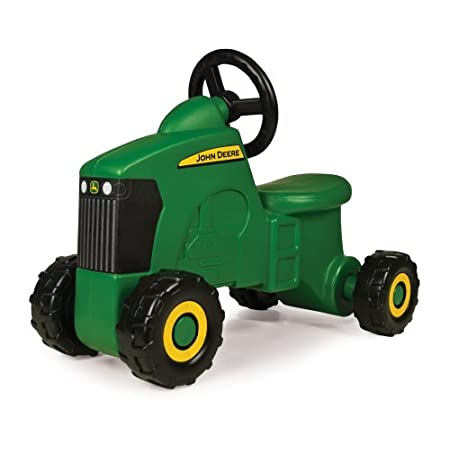 Made by ERTL.View larger Stable riding design making for easy maneuverability.View larger John Deere Sit 'N Scoot Tractor This John Deere Sit 'N Scoot Tractor is a perfect fit for those kid size chores. The John Deere Sit 'N Scoot Tractor is decora...