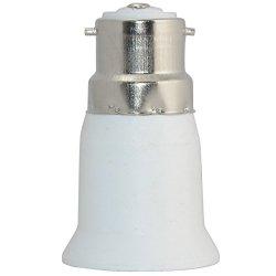Lamp Light Bulb Socket Base Cap B22 - E27 Converter Adaptor Holder Bayonet Screw