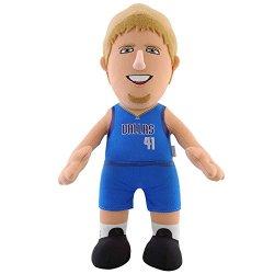 Nba Dallas Mavericks Dirk Nowitzki Player Plush Doll, 6.5-Inch X 3.5-Inch X 10-Inch, Blue