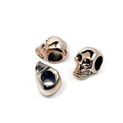 20Pcs Skull Plastic Light-Gold For Paracord Bracelet Punk Diy Gp015-22G