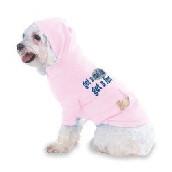 Get A Real Ride! Get A Ford Hooded (Hoody) T-Shirt With Pocket For Your Dog Or Cat Medium Lt Pink