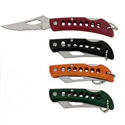 Rite Edge Stainless Steel Pocket Knives Key Ring, Key Chain (Set Of 4)