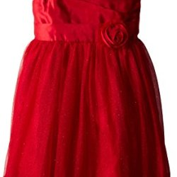 Emily West Big Girls' Holiday Dress, Red, 16