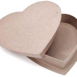 "Paper Mache Box-Heart 12"""