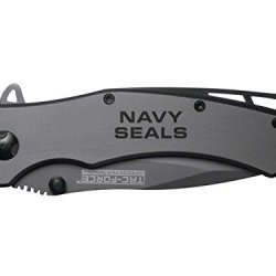 Navy Seals Text 2L Engraved Tac-Force Tf-820Gy Speedster Model Folding Pocket Knife By Ndz Performance