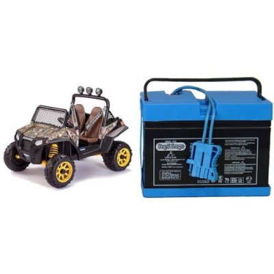 Peg-Perego-Polaris-RZR-900-CAMO-Ride-On-with-12-Volt-Battery-Bundle